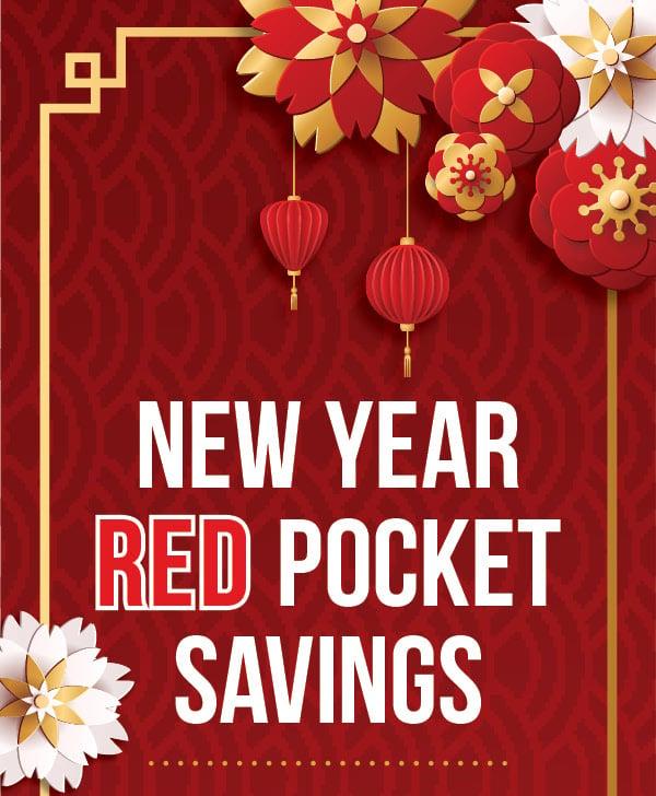 New Year Red Pocket  Savings