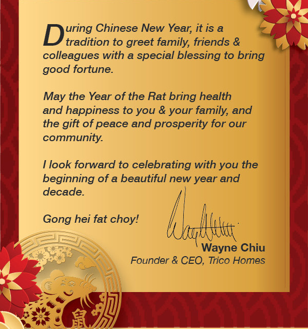 Gong hei fat choy! from Trico Homes